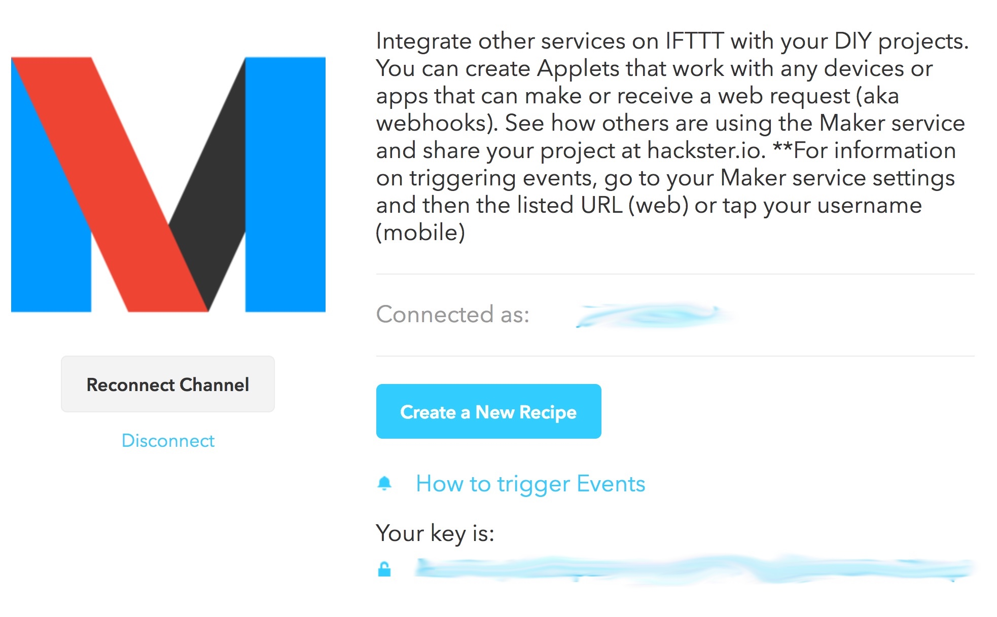 IFTTT Maker Key