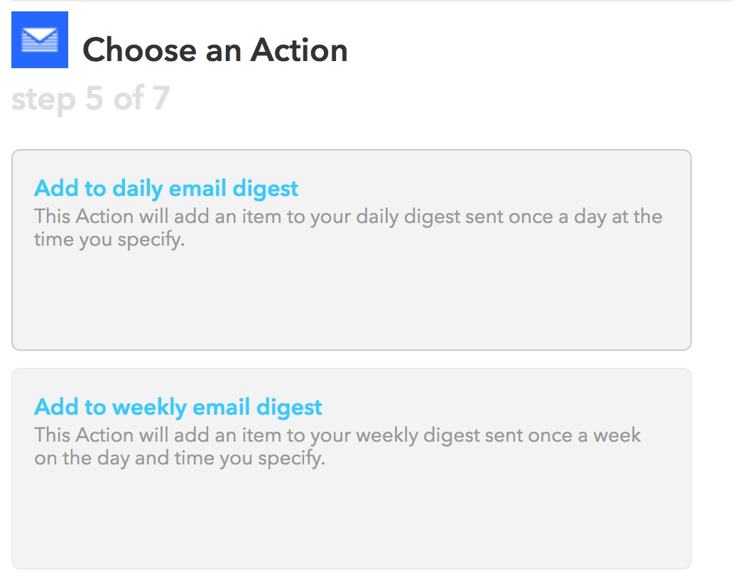 Choose Email Digest